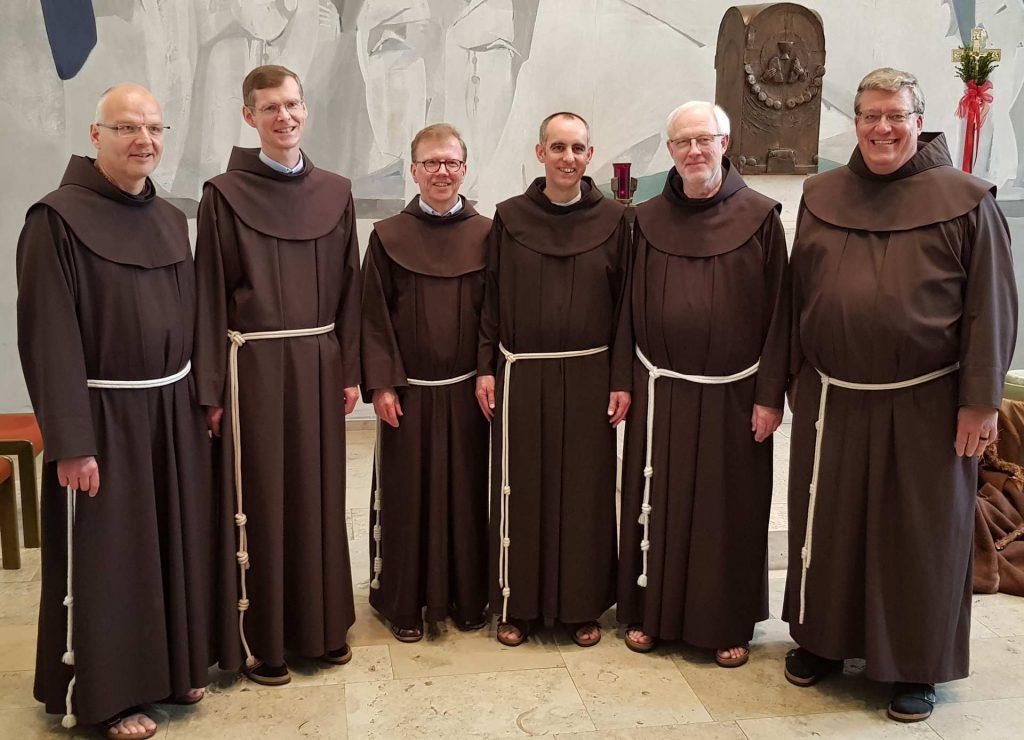 Neue Provinzleitung der Franziskaner 2019